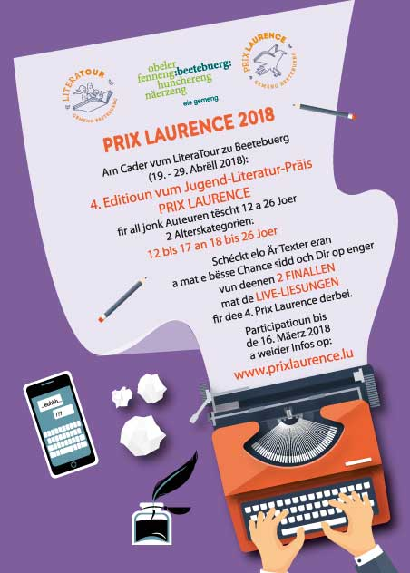 Flyer Prix Laurence 2018